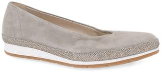 Gabor Fawn Suede 'Bridget' Womens Casual Pumps