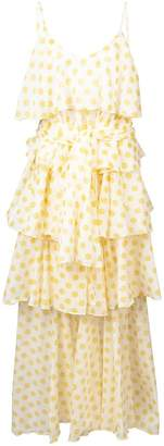 Lisa Marie Fernandez polka-dot ruffle dress