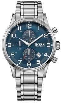 HUGO BOSS Aeroliner Stainless Steel Bracelet Chronograph Watch
