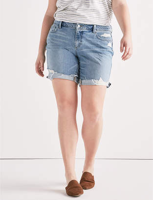 Lucky Brand Plus Georgia Roll Up Jean Short