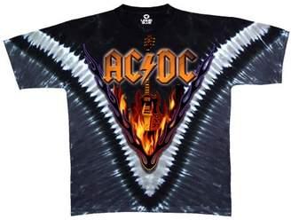 Liquid Blue Men's Acdc Hell'S Bells V Short Sleeve T-Shirt