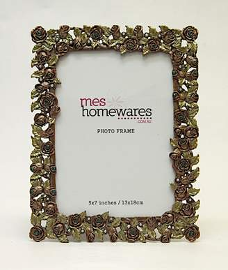 Ms Homewares 7x5 Roses Photo Frame