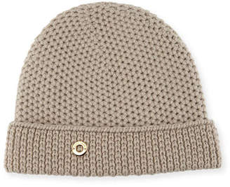 75b9980dd9d Loro Piana Rougement Chain-Knit Cashmere Beanie Hat