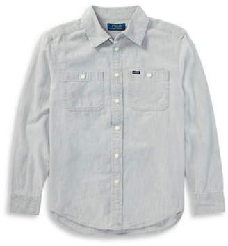 Ralph Lauren Cotton Chambray Sport Shirt