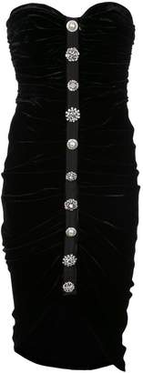 Veronica Beard embellished strapless dress