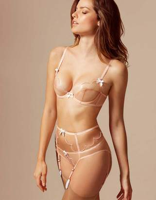 b4b847ac9bba8 Agent Provocateur Lorna Suspender Nude And White