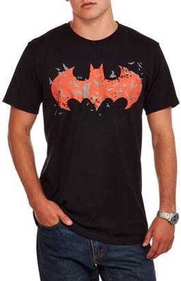Super Heroes DC Comics Men's Batman Glow In The Dark Logo Graphic T-shirt