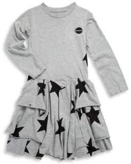 Nununu Toddler, Little Girl's& Girl's Star Cotton Dress