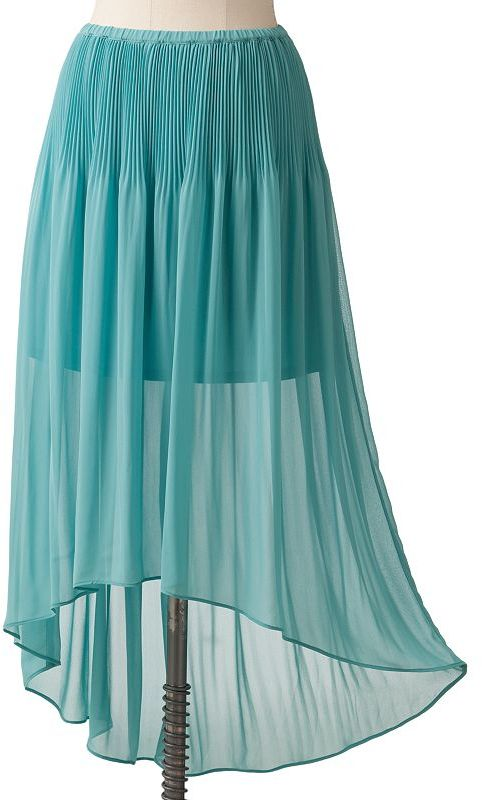 Lc lauren conrad pleated chiffon hi-low skirt