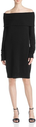 T by Alexander Wang Cashmere Wool Off-The-Shoulder Sweater Dress $395 thestylecure.com