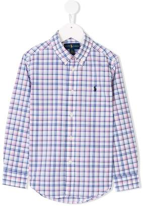 Ralph Lauren checkered logo shirt