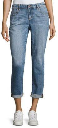 Eileen Fisher Stretch Boyfriend Jeans, Sky Blue $178 thestylecure.com