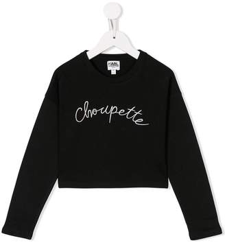 Karl Lagerfeld embroidered detail top