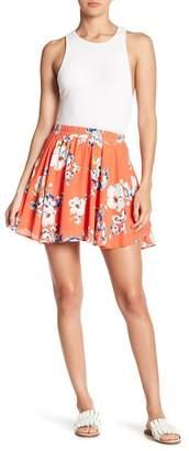 Pink Owl Floral Skater Skirt