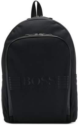 HUGO BOSS logo branded backpack