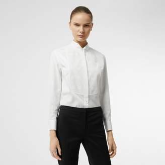 Burberry Floral Bib Silk Cotton Shirt