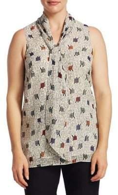 Nic+Zoe Plus Plus Women's Tie Collar Blouse - Size 2X (XXL)