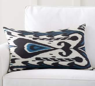 Pottery Barn Edith Ikat Print Silk Lumbar Pillow Cover