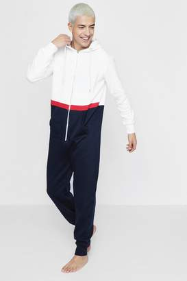 boohoo Retro Sports Block Onesie