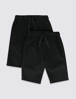 Marks and Spencer 2 Pack Boys Cotton Rich Shorts