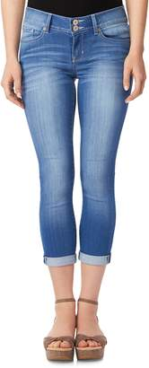 Juniors' Wallflower Cuffed Crop Skinny Jeans