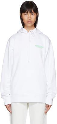 Helmut Lang White Logo Hoodie