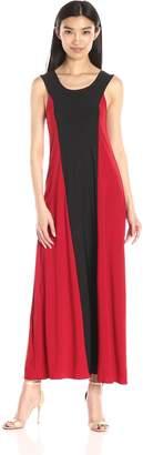 Star Vixen Women's Sleeveless Stripe Colorblock Sleeveless Maxi Dress