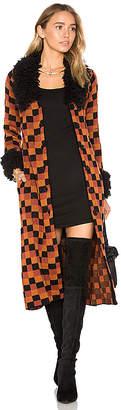 House of Harlow 1960 x REVOLVE Joan Coat in Orange $328 thestylecure.com