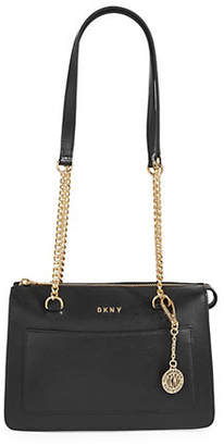 DKNY Small Zip Leather Tote
