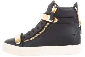 Giuseppe Zanotti May London Leather Sneakers w/ Tags