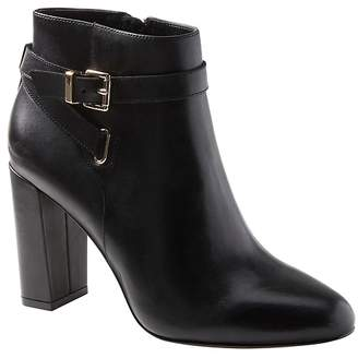 Banana Republic Buckle High-Heel Ankle Boot