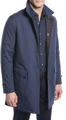 Loro Piana Men's Reversible Plaid Coat