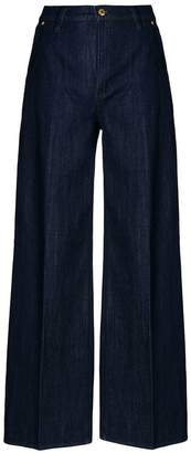 Tory Burch wide leg rinse wash jeans