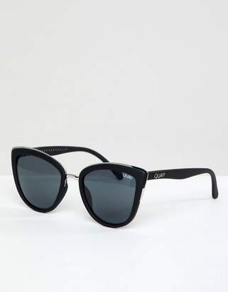 Quay My Girl Cat Eye Sunglasses In Black