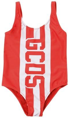 Logo Print Lycra One Piece Swimsuit