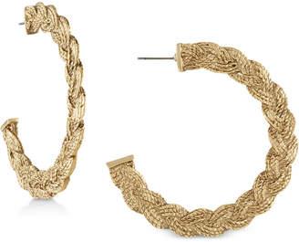 """Rachel Roy Gold-Tone 2"""" Rope Hoop Earrings"""
