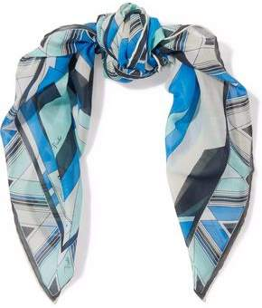 Emilio Pucci Printed Cotton And Silk-Blend Scarf