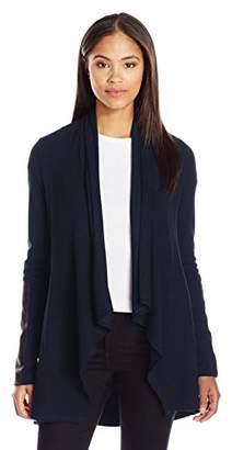 Karen Kane Women's Faux Leather Patch Jacket