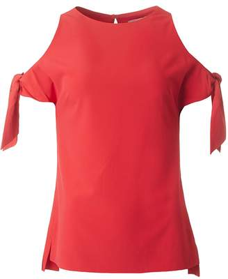 Ted Baker Plain Cold Shoulder Top Colour: BRIGHT RED, Size: 10