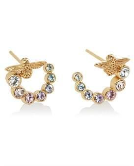 Olivia Burton Rainbow Bee Curl Earrings Gold
