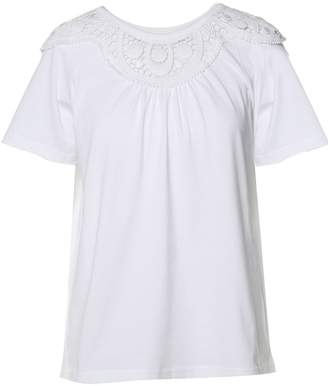 See by Chloe Crochet-lace And Cotton T-shirt