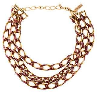 Oscar de la Renta Curb Chain Multistrand Necklace