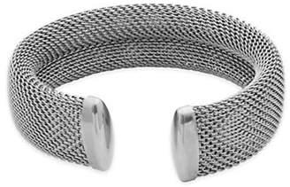 Elle Stainless Steel Mesh Cuff Bangle Bracelet