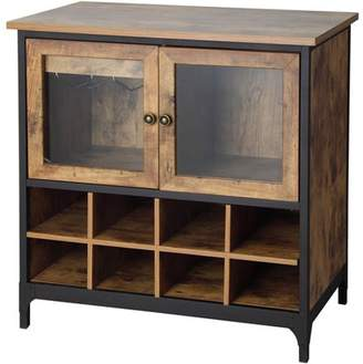 Better Homes & Gardens Better Homes and Gardens Rustic Country Wine Cabinet, Pine