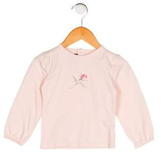 Burberry Girls' Long Sleeve Embroidered Top
