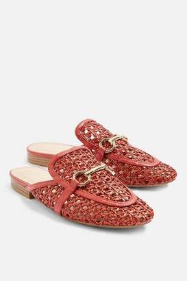Topshop Woven loafer mules