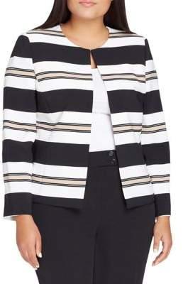 Tahari Arthur S. Levine Balanced Stripe Jacket and Pant Suit