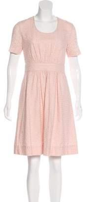 See by Chloe Eyelet Knee-Length Dress