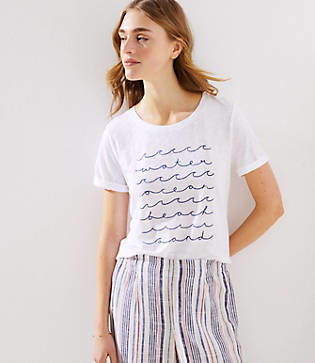 LOFT Beach Waves Tee