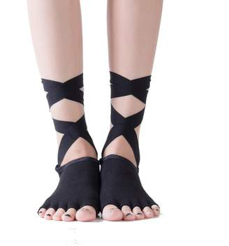 5f41fd03b QunLei Non Slip Women's Yoga Socks with Ankle Strap for Fitness Dance  Pilates Ballet Barre Sport